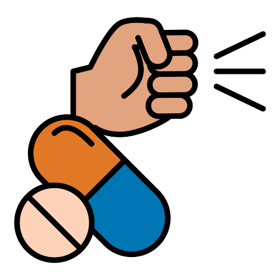A fist and some medicine