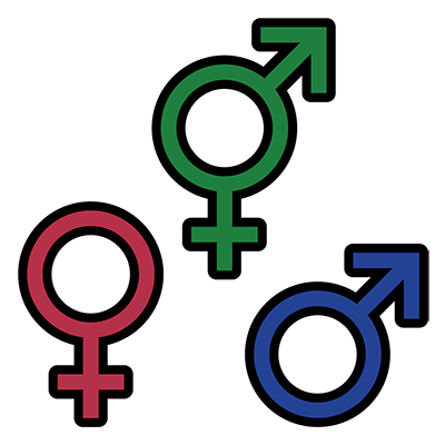 Symbols for different genders