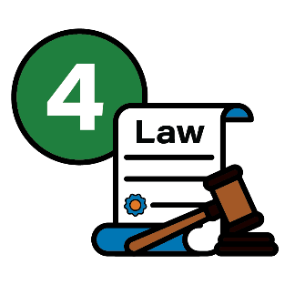 A law document with a gavel and the number 4 next to it
