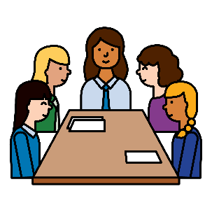 A group of people having a meeting