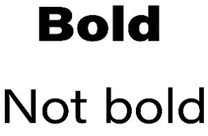 Bold Not Bold