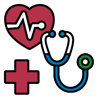 Icon of a stethoscope and a heart