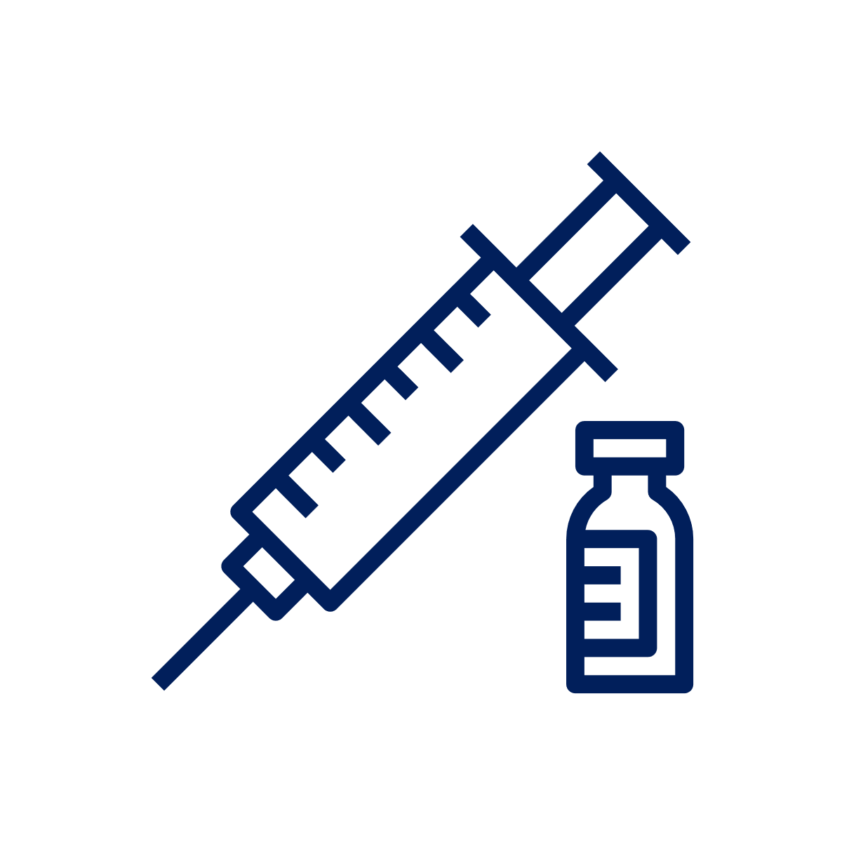 a syringe and vaccine bottle